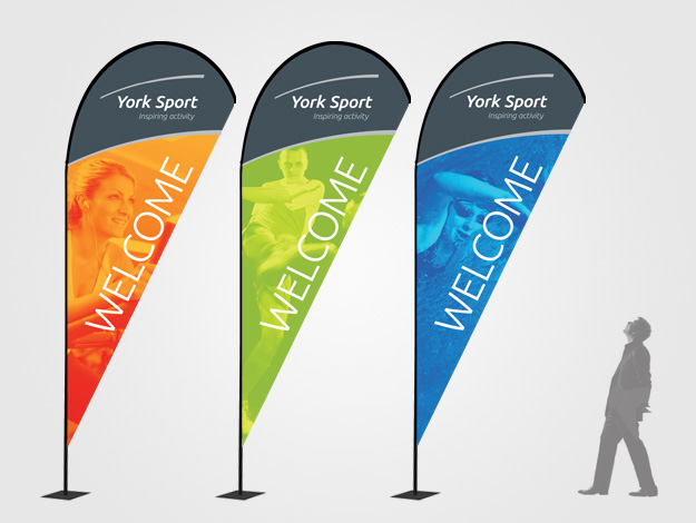York Sport Village Quill Zoom Lite Gym Entrance Banners